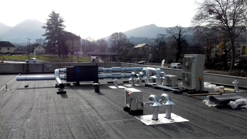 Climatisation, Ventillation, Extraction, Crématorium de Chambéry en Savoie (73)